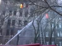 Požiar školy v Odese