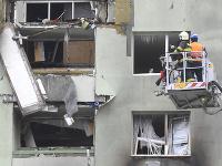 Zhorený bytový dom dnes ráno