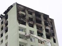 Zničená bytovka v Prešove