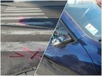 Dopravná nehoda na priechode pre chodcov.