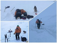 Pád lavíny v Nízkych Tatrách s tragickým koncom.