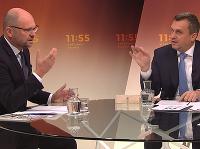 Andrej Danko a Richard Sulík v diskusnej relácii RTVS.