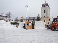 Snehový labyrint je novou atrakciou zimnej sezóny na Horehroní