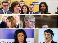 Strany sa rozhodli na popredné miesta zaradiť aj ženské osadenstvo