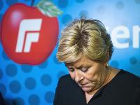 Líderka nórskej populistickej pravicovej Strany pokroku Siv Jensenová