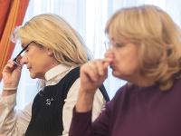 Kandidátky na post predsedníčky Najvyššieho súdu SR Soňa Mesiarkinová a Jana Bajánková