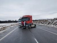 Hraničný priechod Trestná, ktorý autodopravcovia skôr blokovali.