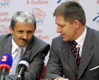 Mikuláš Dzurinda a Robert Fico