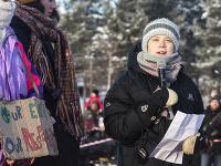 Greta Thunbergová navštívila v rámci svojej kampane za záchranu zemskej klímy severné časti Švédska.
