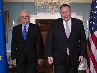 Josep Borrell rokoval s americkým ministrom zahraničných vecí Mikeom Pompeom.