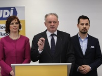 Veronika Remišová, Andrej Kiska a Juraj Šeliga