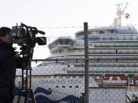 Loď Diamond Princess, ktorá je v karanténe v japonskom prístave