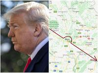 Trump počas letu vraj oblukom obišiel mesto Brno