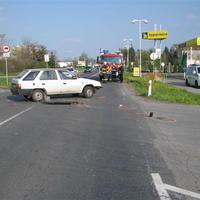 Dopravná nehoda v Lučenci.