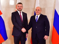 Peter Pellegrini a ruský premiér Michail Mišustin