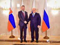 Peter Pellegrini počas stretnutia v rámci pracovnej návštevy Ruskej federácie.