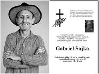 Na Silvestra našli nezvestného Gabriela Sajku mŕtveho.