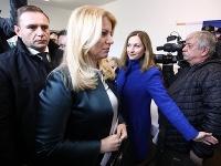 Hlava štátu Zuzana Čaputová odvolila v Pezinku.