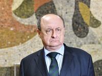 Riaditeľ štátnej volebnej komisie Eduard Bárány počas tlačovej besedy v Centrále štátnej volebnej komisie