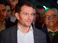Líder hnutia OĽaNo Igor Matovič počas tlačovej konferencie po zverejnení väčšiny spočítaných hlasov v rámci volebnej noci v centrále strany OĽaNO