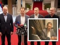 Predsedovia strán nádejnej koalície sa stretli na prvej večeri