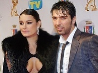 Alena Šeredová a Gigi Buffon
