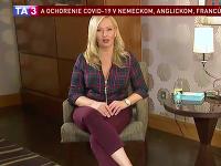 Adriana Kmotríková uvádza na obrazovkách TA3 reláciu o cystickej fibróze.