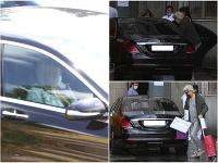 Štefan Skrúcaný si odviezol manželku Eriku a dcérku Ellu z nemocnice domov.