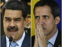 Nicolás Maduro a Juan Guaidó