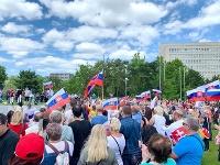 Dnešný protest proti vláde Igora Matoviča v Bratislave