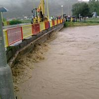 Rozvodnená Torysa v Prešove.