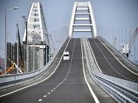 Most spájajúci Rusko s Krymským polostrovom.