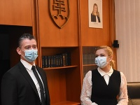 Roman Mikulec a Denisa Saková