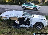 Dopravná nehoda na križovatke medzi Trakovicami a Malženicami