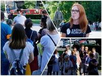 Protest na Námestí SNP v Bratislave