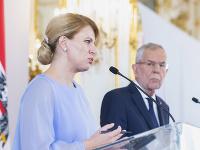 Zuzana Čaputová a Alexander Van Der Bellen