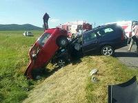 Dopravná nehoda troch vozidiel, ktorá sa stala v katastri obce Horná Strehová, okres Veľký Krtíš
