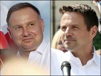 Kandidáti na poľského prezidenta Andrzej Duda (vľavo) a Rafal Trzaskowski.