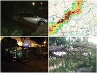 Hasiči odstraňovali škody po búrkach