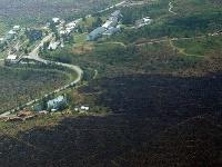 Zhorenisko po požiari, ktorý zdevastoval  Vysoké Tatry
