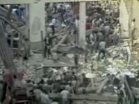 Miesto výbuchu, časť stanice sa v jeho dôsledku úplne zrútila