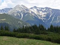 Na snímke pohľad na Roháče v Západných Tatrách z vrchu Babky vo Vysokých Tatrách