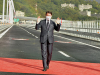 V Janove otvorili nový diaľničný most Ponte San Giorgio
