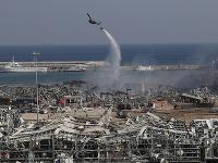 Miesto výbuchu je celé zničené