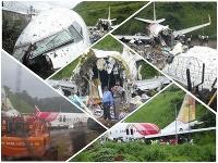 Lietadlo v Indii skĺzlo z dráhy a rozlomilo sa