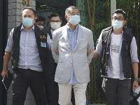 Zadržaný Jimmy Lai