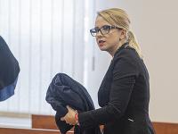 Advokátka Natália Trubanová na Špecializovanom trestnom súde v Pezinku.