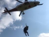 Záber z jednej z víkendových záchranných akcií.