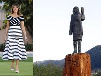 Melania Trumpová má v Slovinsku novú sochu.