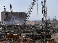 Mesto Bejrút po ničivom výbuchu